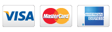 Credit/debit cards are accepted on this site